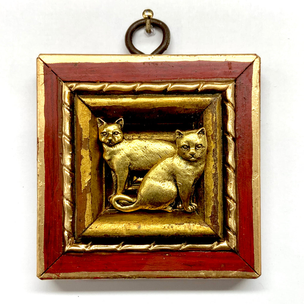 Lacquered Frame with Cats (2.75