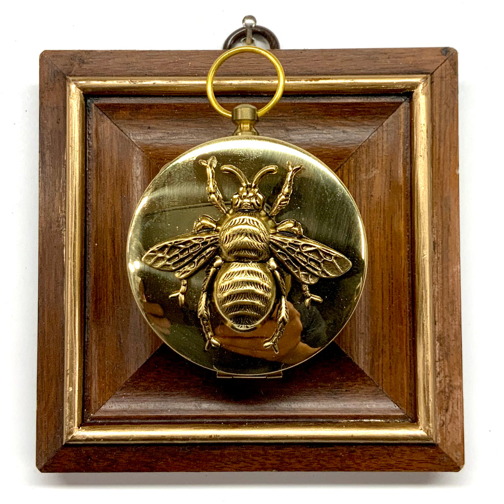 Wooden Frame with Grande Bee on Compass (3.75