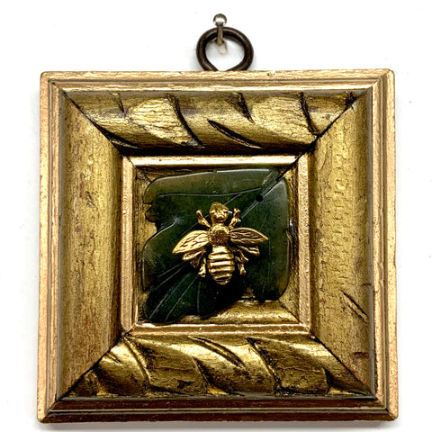 Gilt Frame with Napoleonic Bee on Jade Leaf (3.5