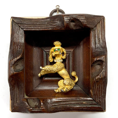 Wooden Frame with Poodle (3