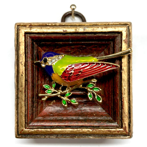 Painted Frame with Enameled Bird (2.25