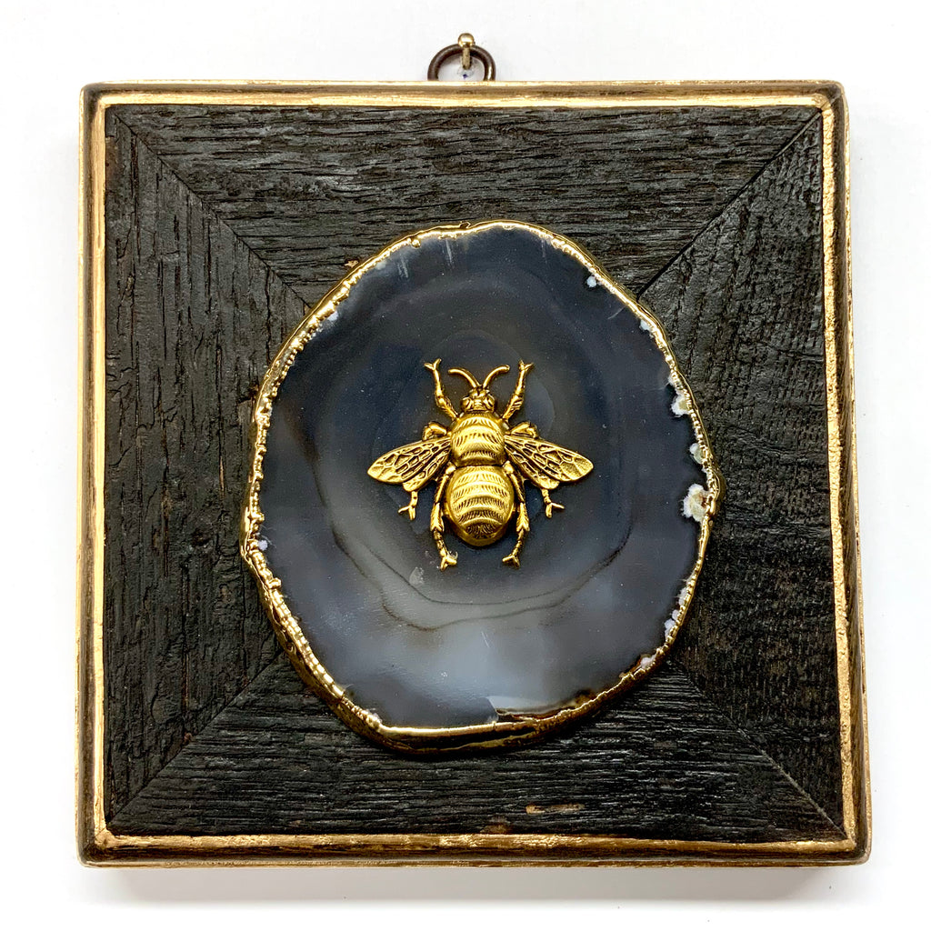 Bourbon Barrel Frame with Grande Bee on Agate (6
