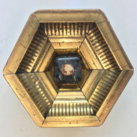 Striped Frame with Cameo (2.75