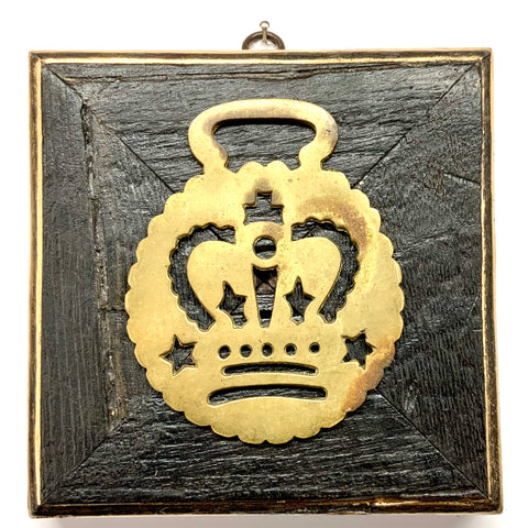 Bourbon Barrel Frame with Horse Brass (6