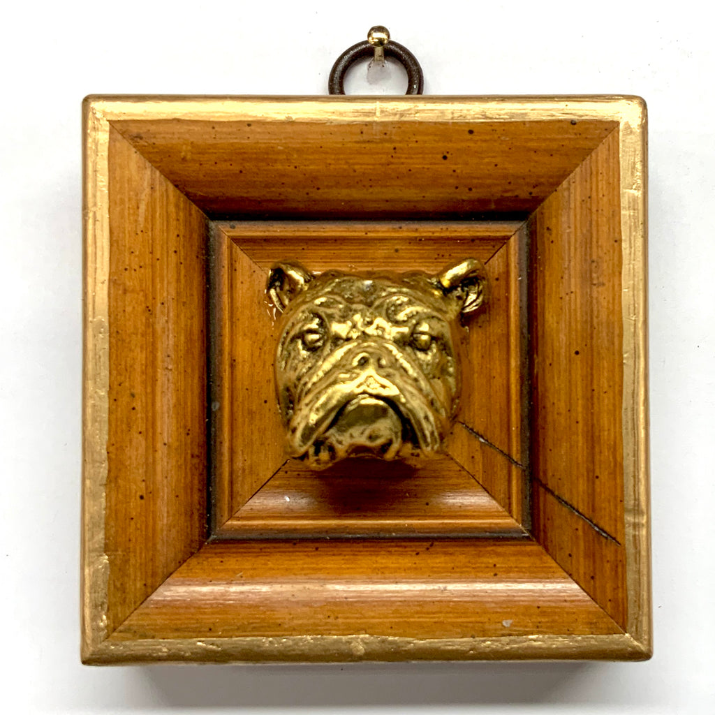 Wooden Frame with Bulldog (3