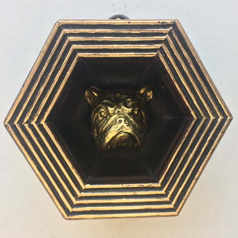 Deep Gilt Wooden Frame with Bulldog (3.25