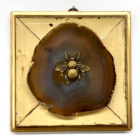 Painted Frame with Grande Bee on Agate (6