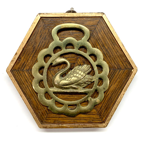 Wooden Frame with Swan Horse Brass (5.25