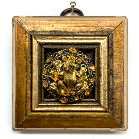 Gilt Frame with Frog on Brooch (2.5