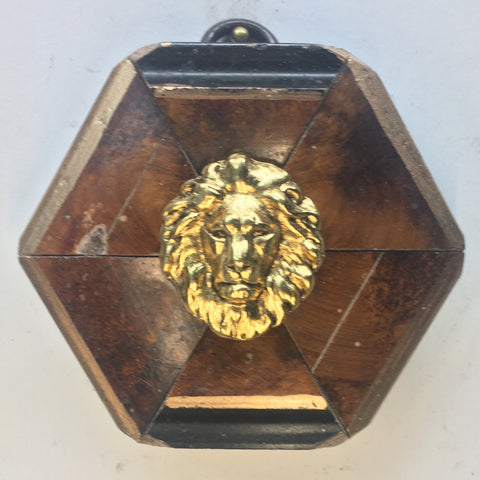 Burled Frame with Lion (2.75