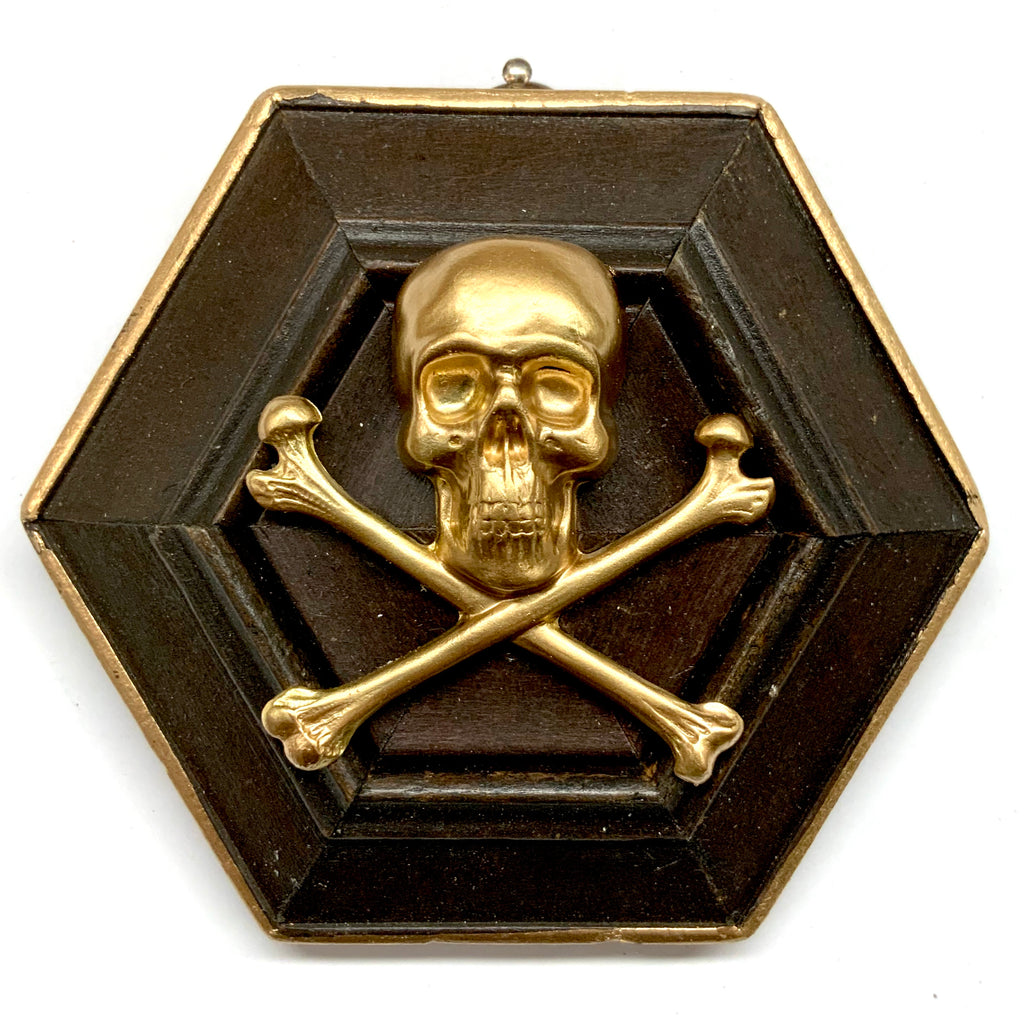 Wooden Frame with Skull and Crossbones (4.25