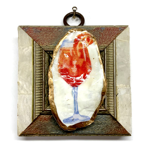 Mother of Pearl Frame with Cocktail Oyster Shell (3
