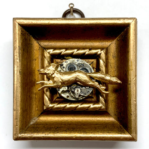 Gilt Frame with Fox on Watch Movement (2.75