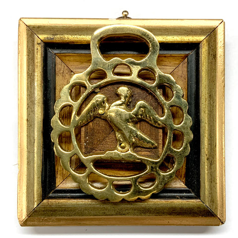 Gilt Frame with Pelican Horse Brass (4.25