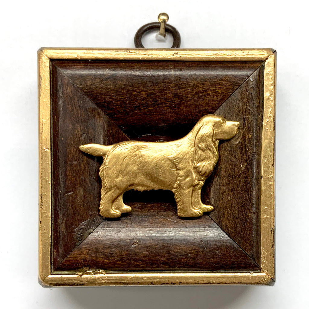 Wooden Frame with Spaniel (2.75