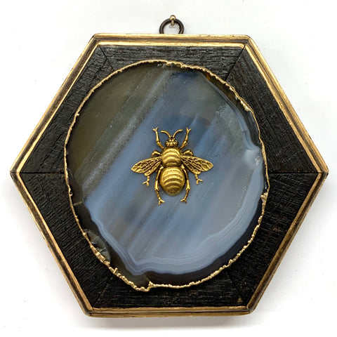Bourbon Barrel Frame with Grande Bee on Agate (6.75