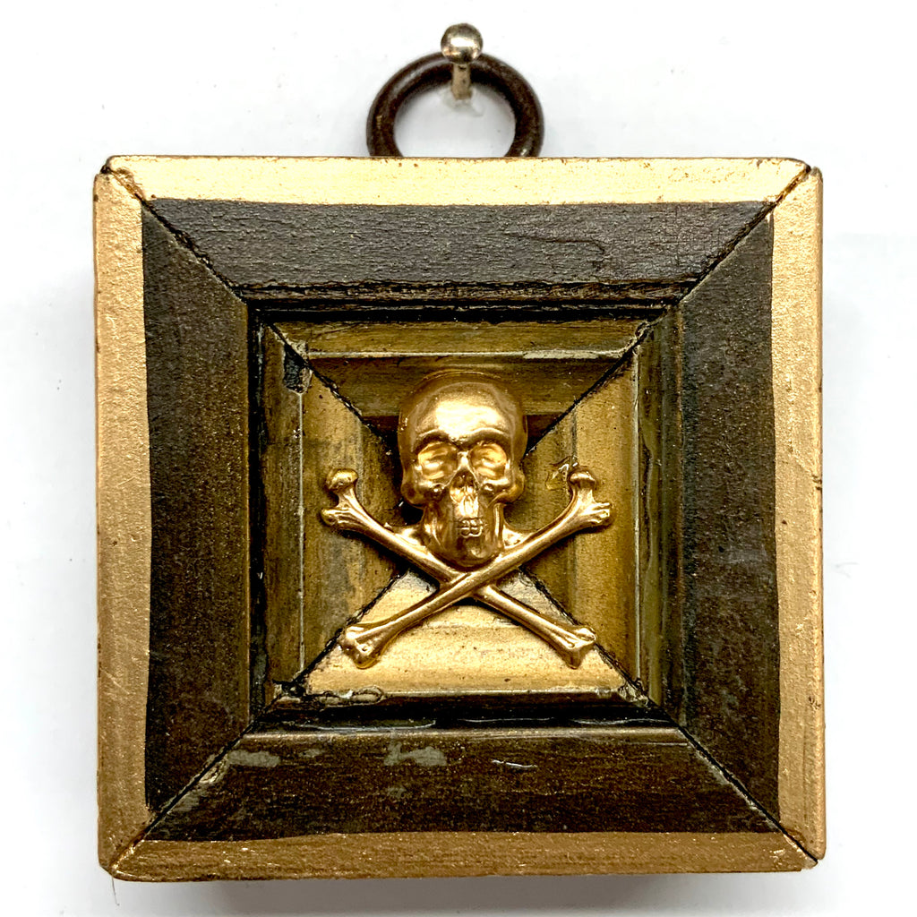 Painted Frame with Skull and Crossbones (2