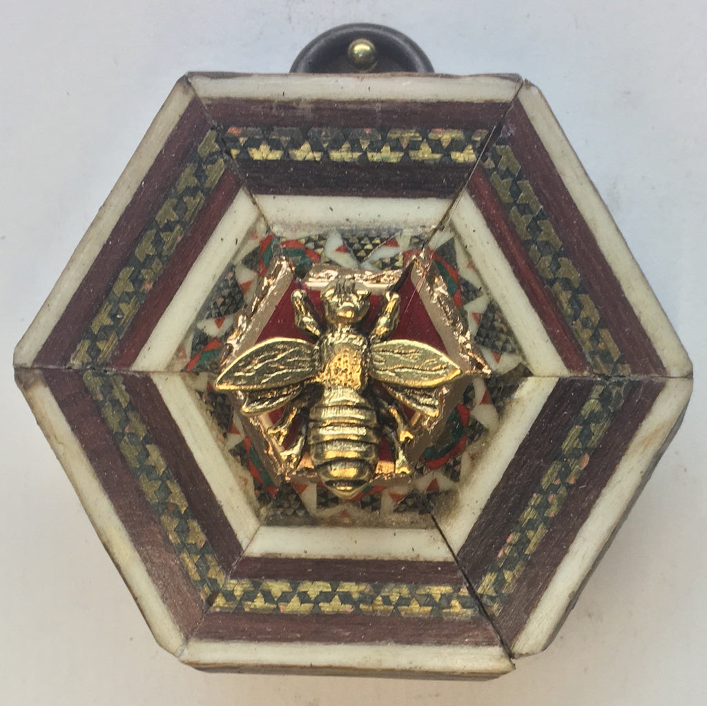 Micro Mosaic Frame with Napoleonic Bee (2.25