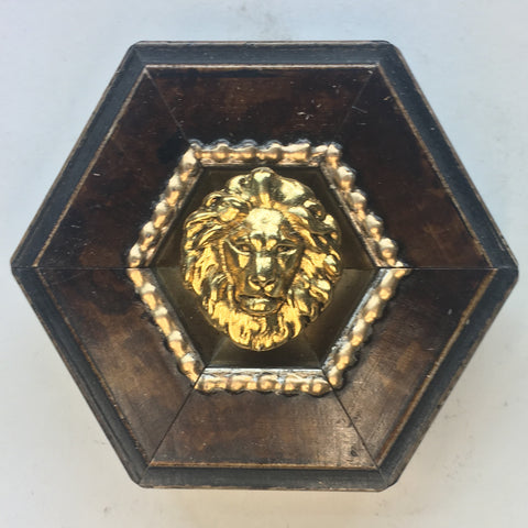 Burled Frame with Lion (3
