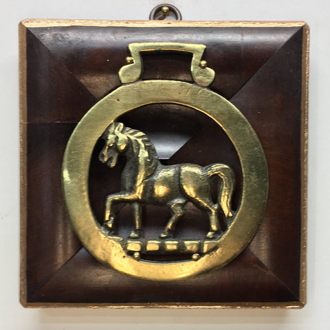 Wooden Frame with Horse Brass (5