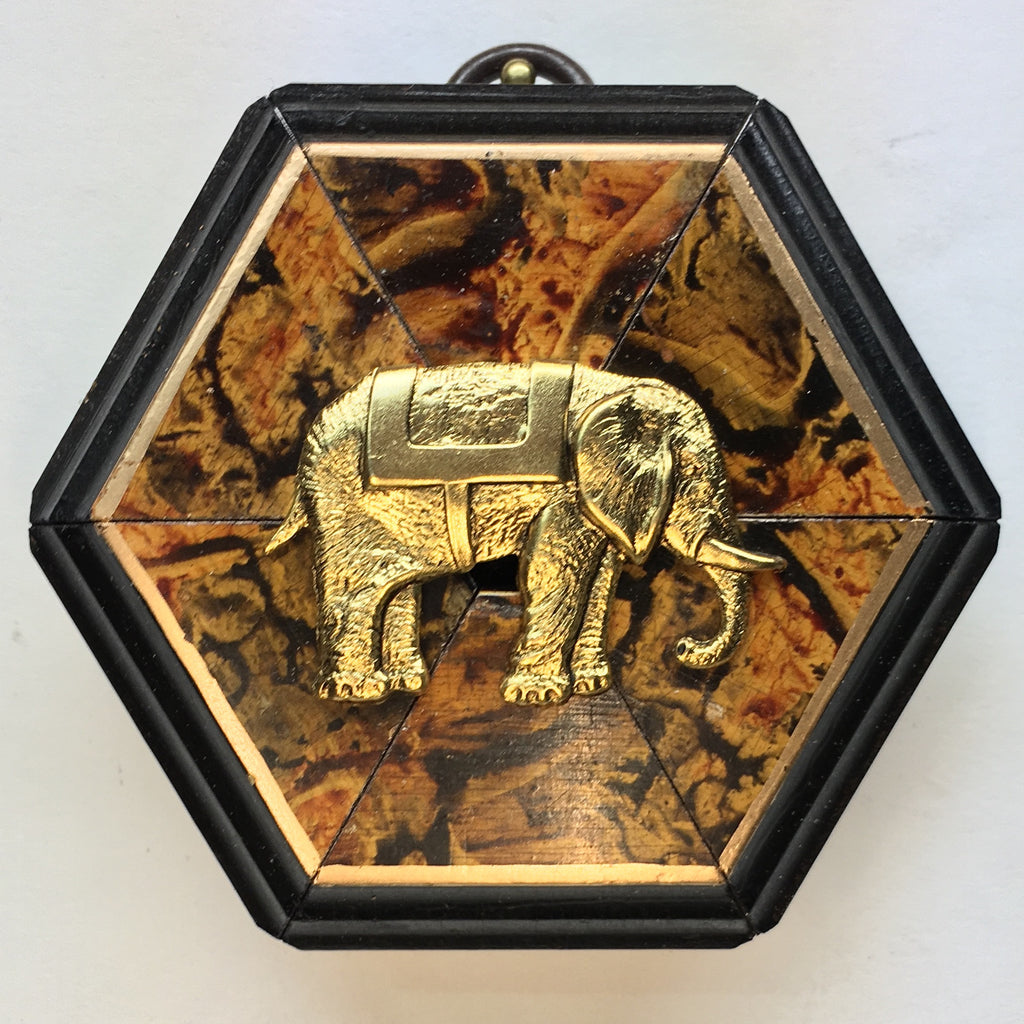 Marbled Frame with Elephant (3