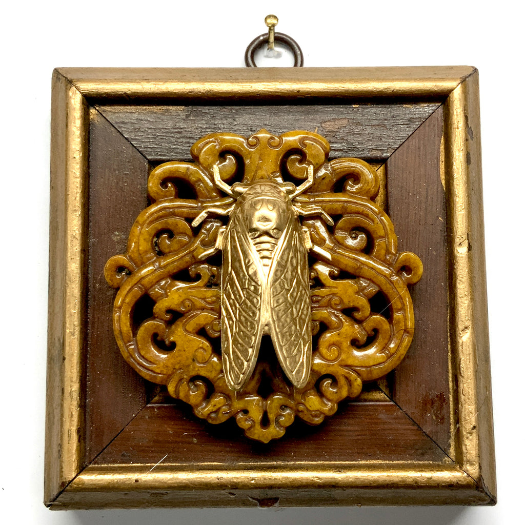 Wooden Frame with Enameled Bee (3.25