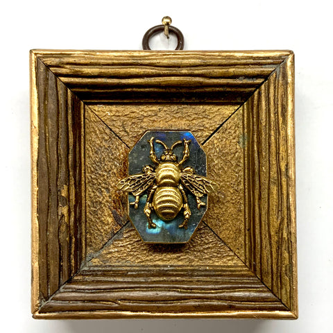 Gilt Frame with Grande Bee on Stone (3.25