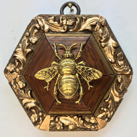 Gilt Wooden Frame with Grande Bee (3.5