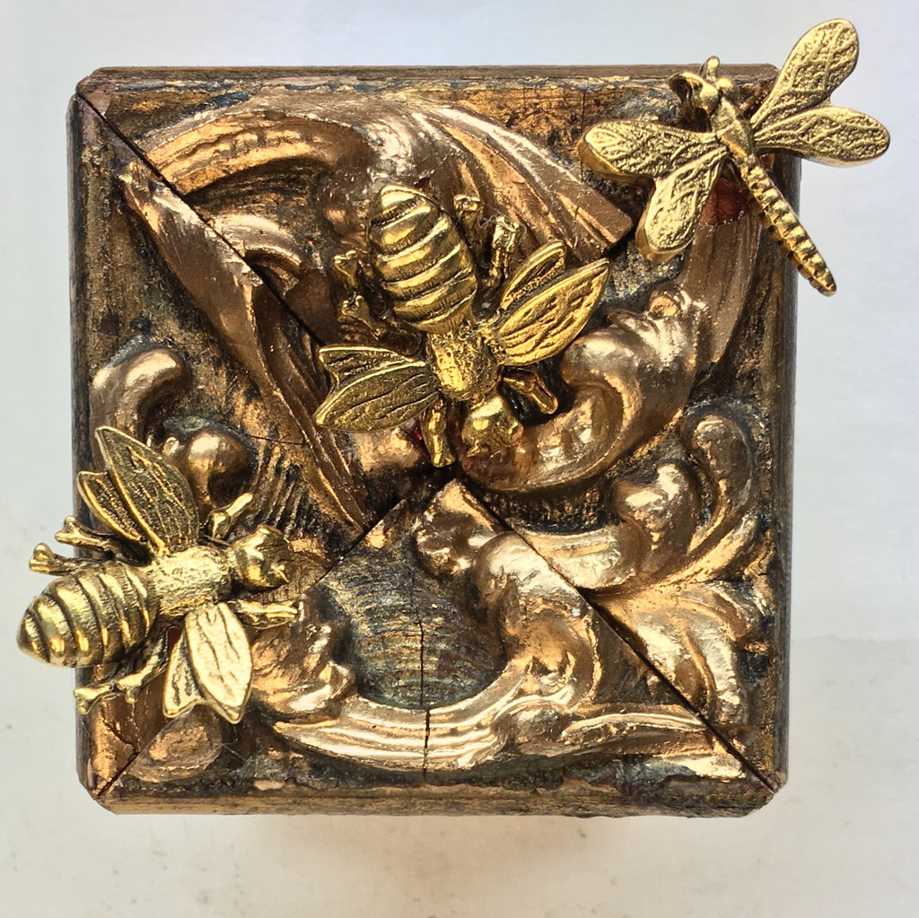 Gilt Frame with Napoleonic Bees and Dragonfly (2