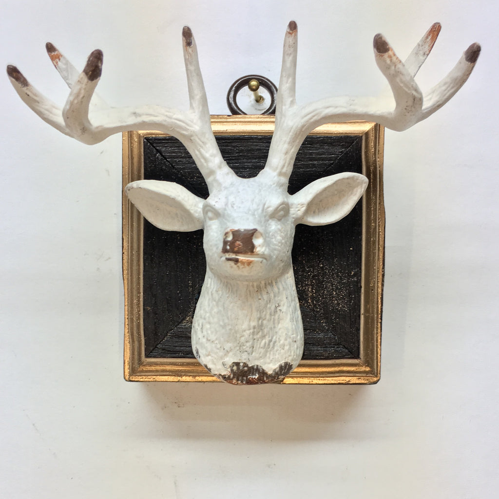 Bourbon Barrel Frame with Stag (3