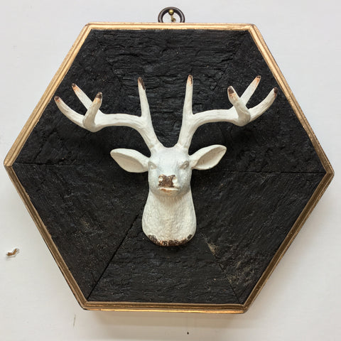 Bourbon Barrel Frame with Stag (7