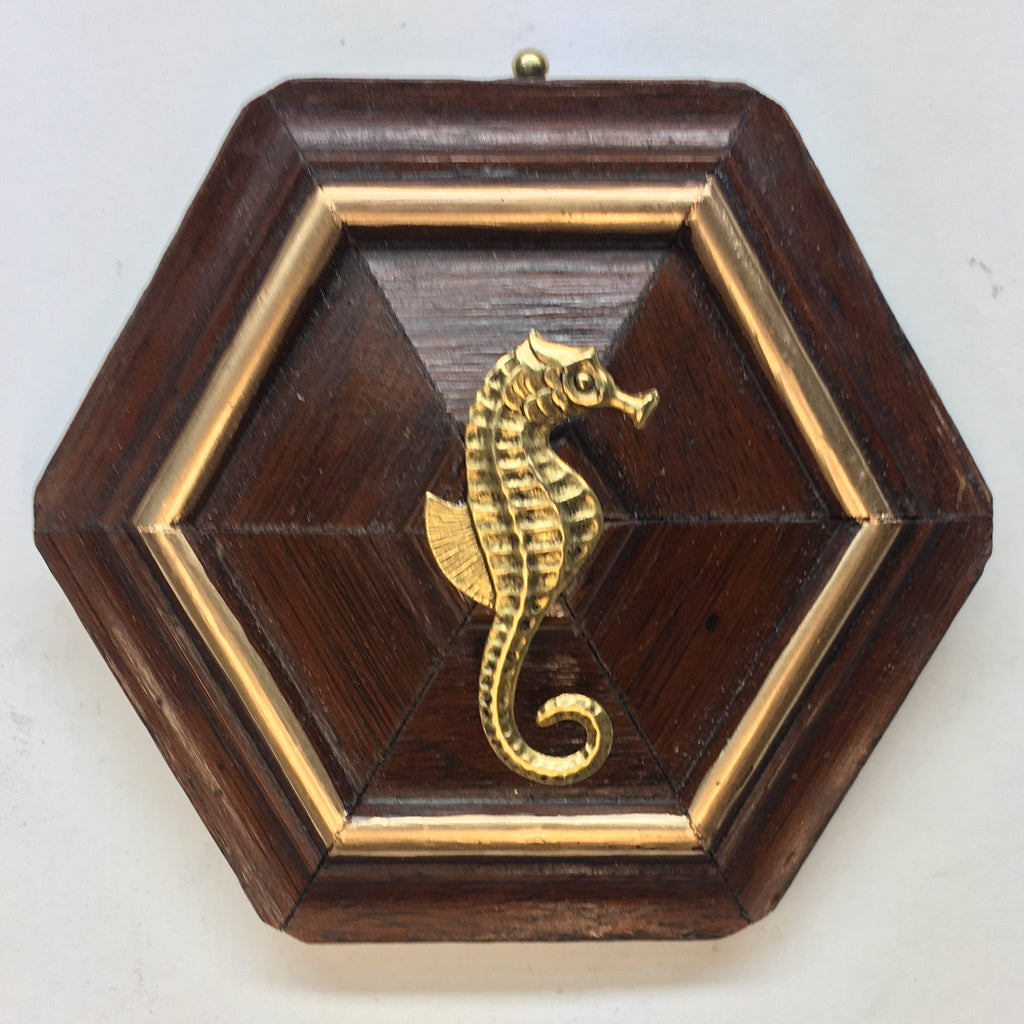 Wooden Frame with Seahorse (3.25