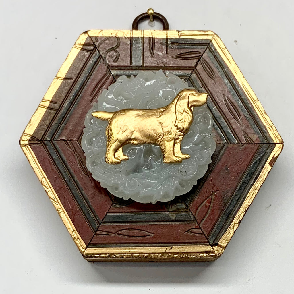 Coromandel Frame with Dog on Jade (4
