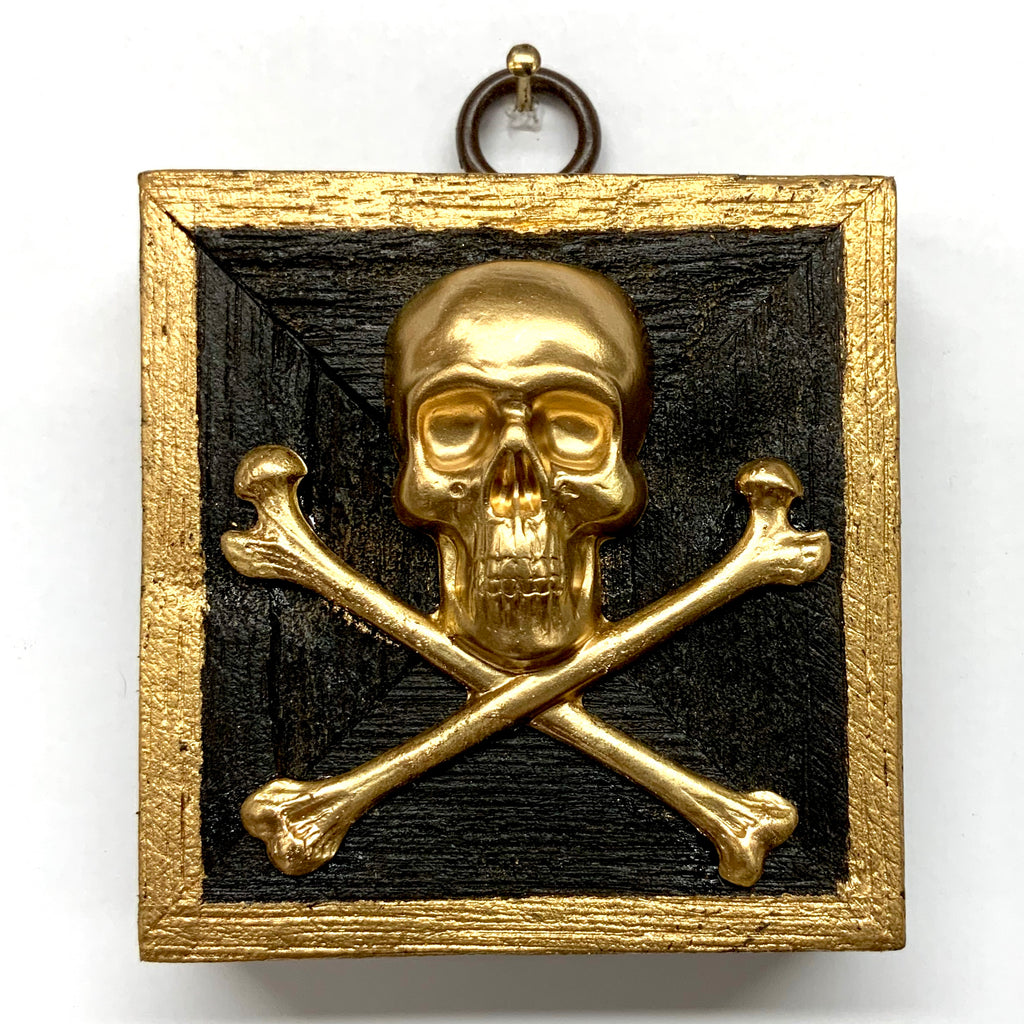 Bourbon Barrel Frame with Skull and Crossbones (2.75