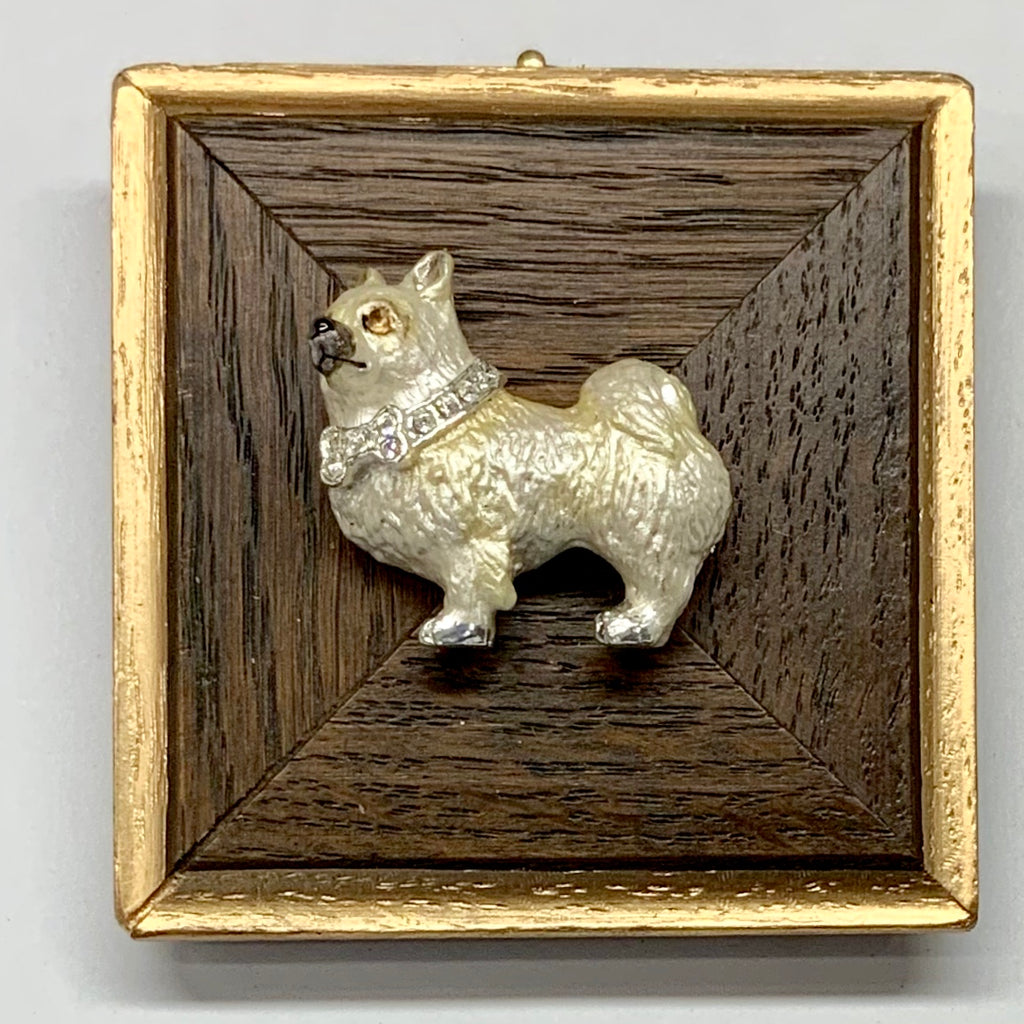 Wooden Frame with Dog Brooch (3