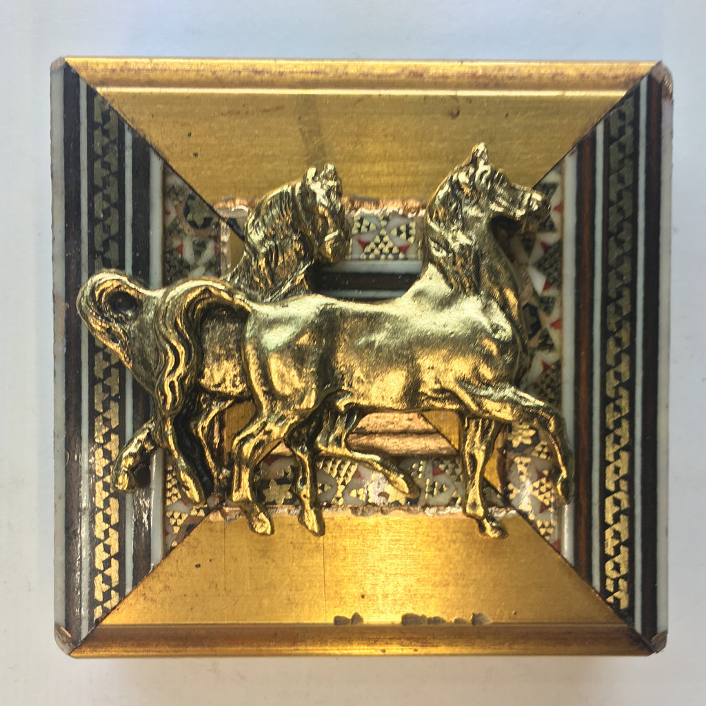 Gilt Micro Mosaic Frame with Horses (2.75
