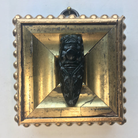 Gilt Frame with Cicada Carving (2.75