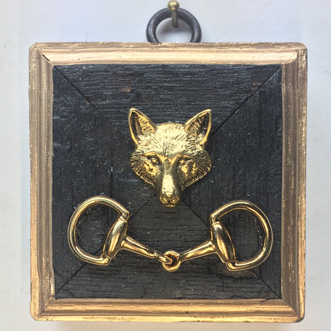 Bourbon Barrel Frame with Fox and Snaffle Bit (2.75