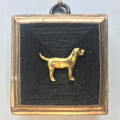 Bourbon Barrel Frame with Golden Retriever (2.5