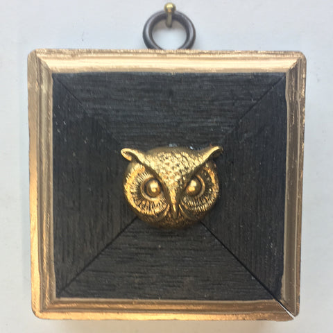 Bourbon Barrel Frame with Owl (2.75