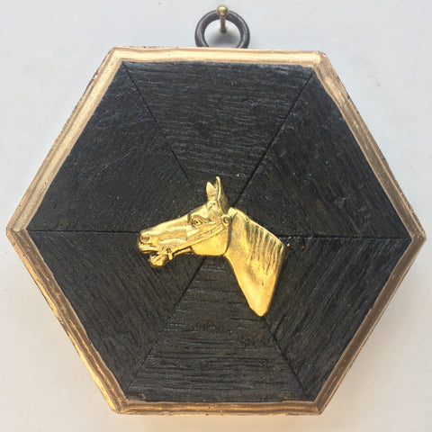 Bourbon Barrel Frame with Horse (4