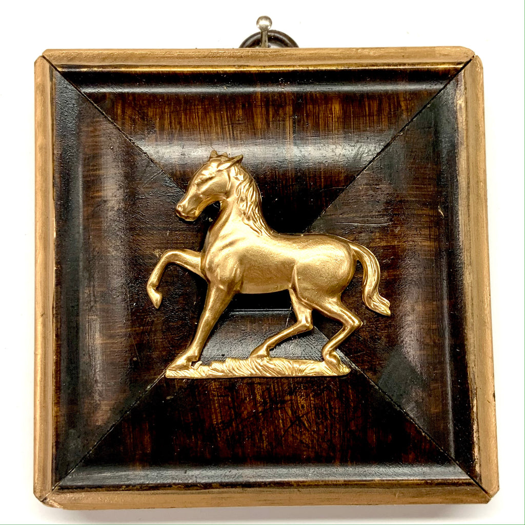 Burled Frame with Horse (3.5