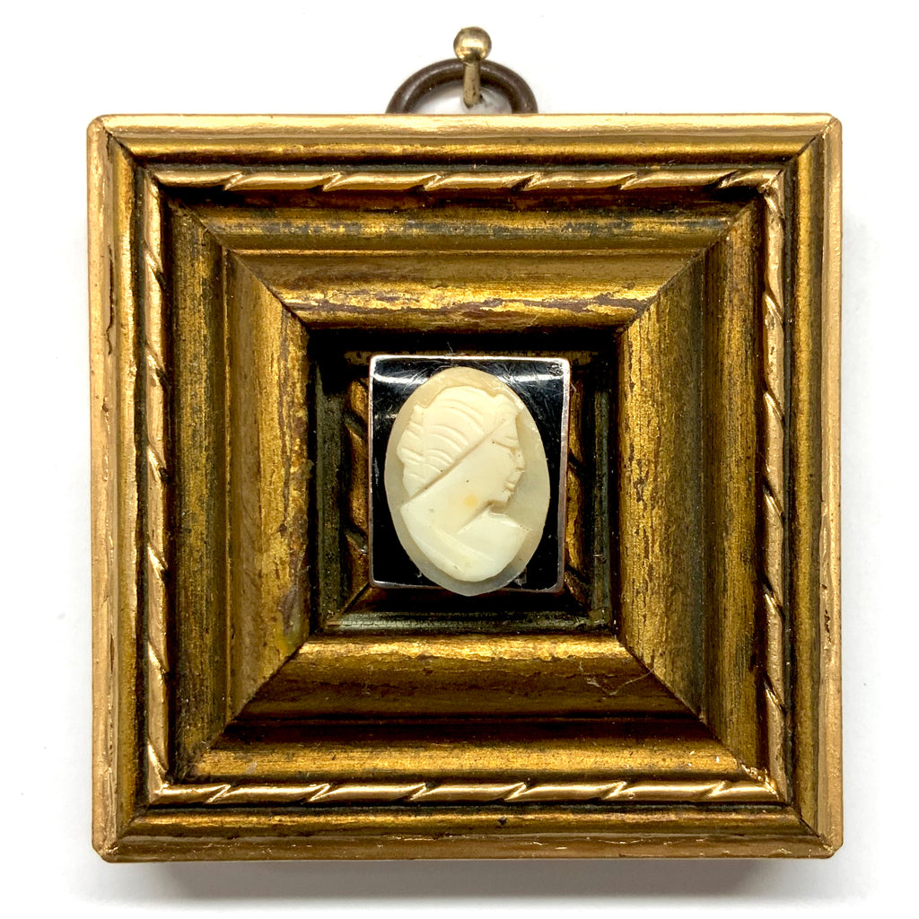 Gilt Frame with Cameo on Stone (2.5