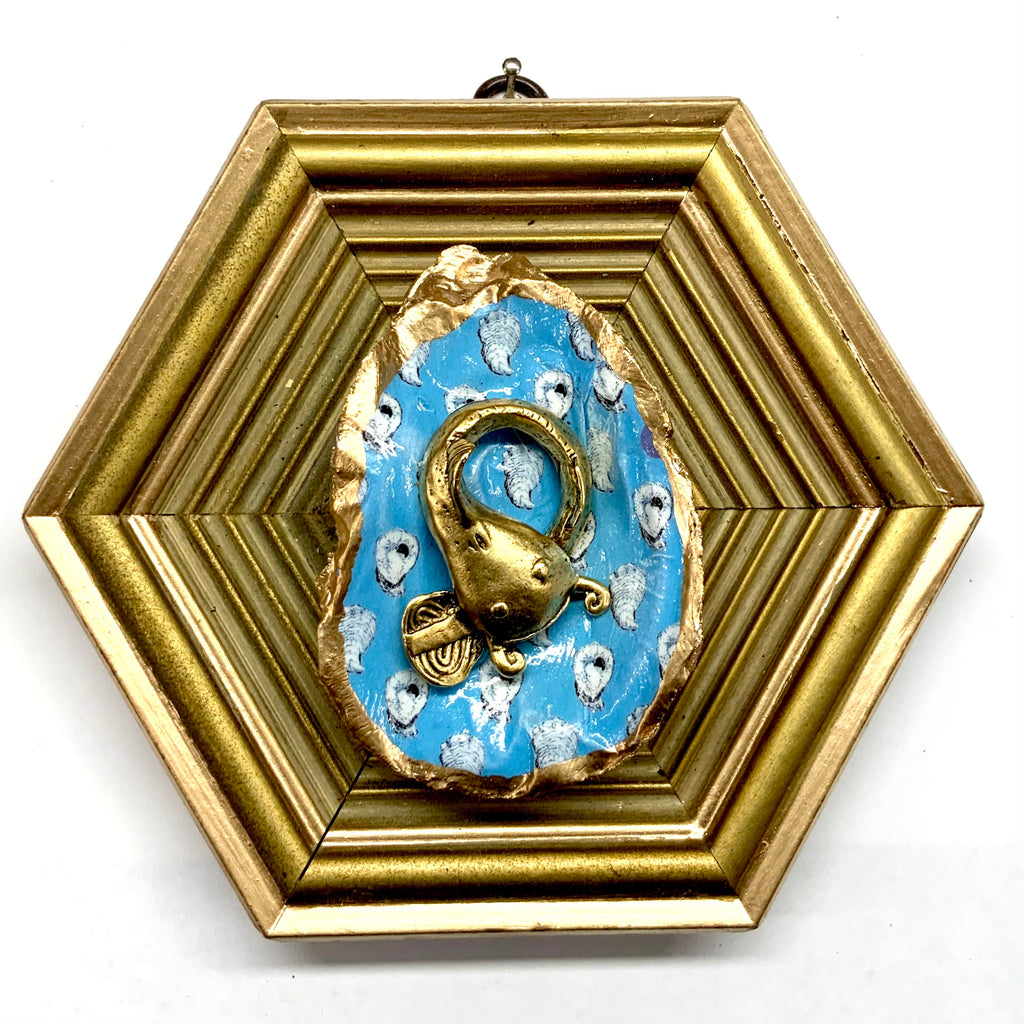 Gilt Frame with Catfish on Oyster Shell (6.25
