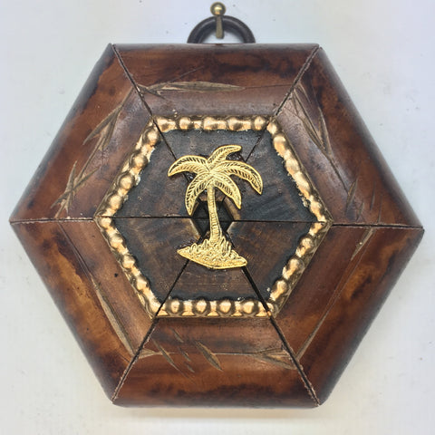 Burled Frame with Palm Tree (3.25