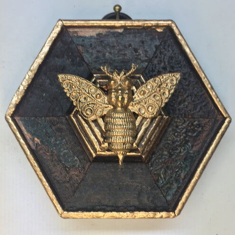 Dark Gilt Frame with Bee (3.25