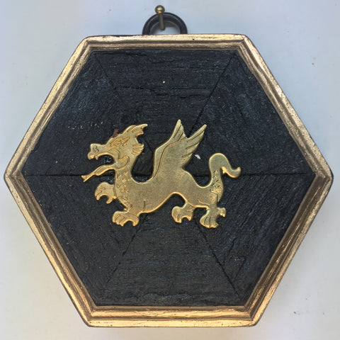 Bourbon Barrel Frame with Dragon (3.75