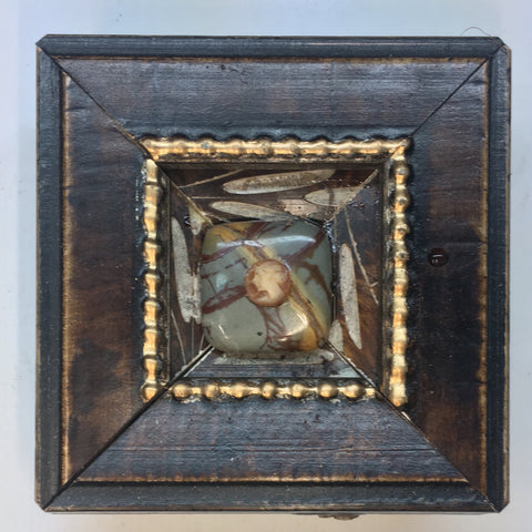 Wooden Frame with Cameo on Lapis Piece (3
