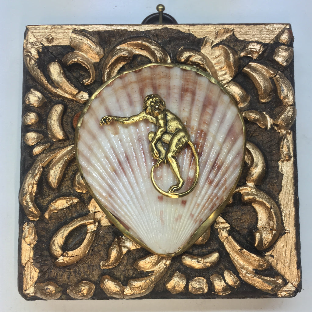Gilt Frame with Monkey on Shell (3.75
