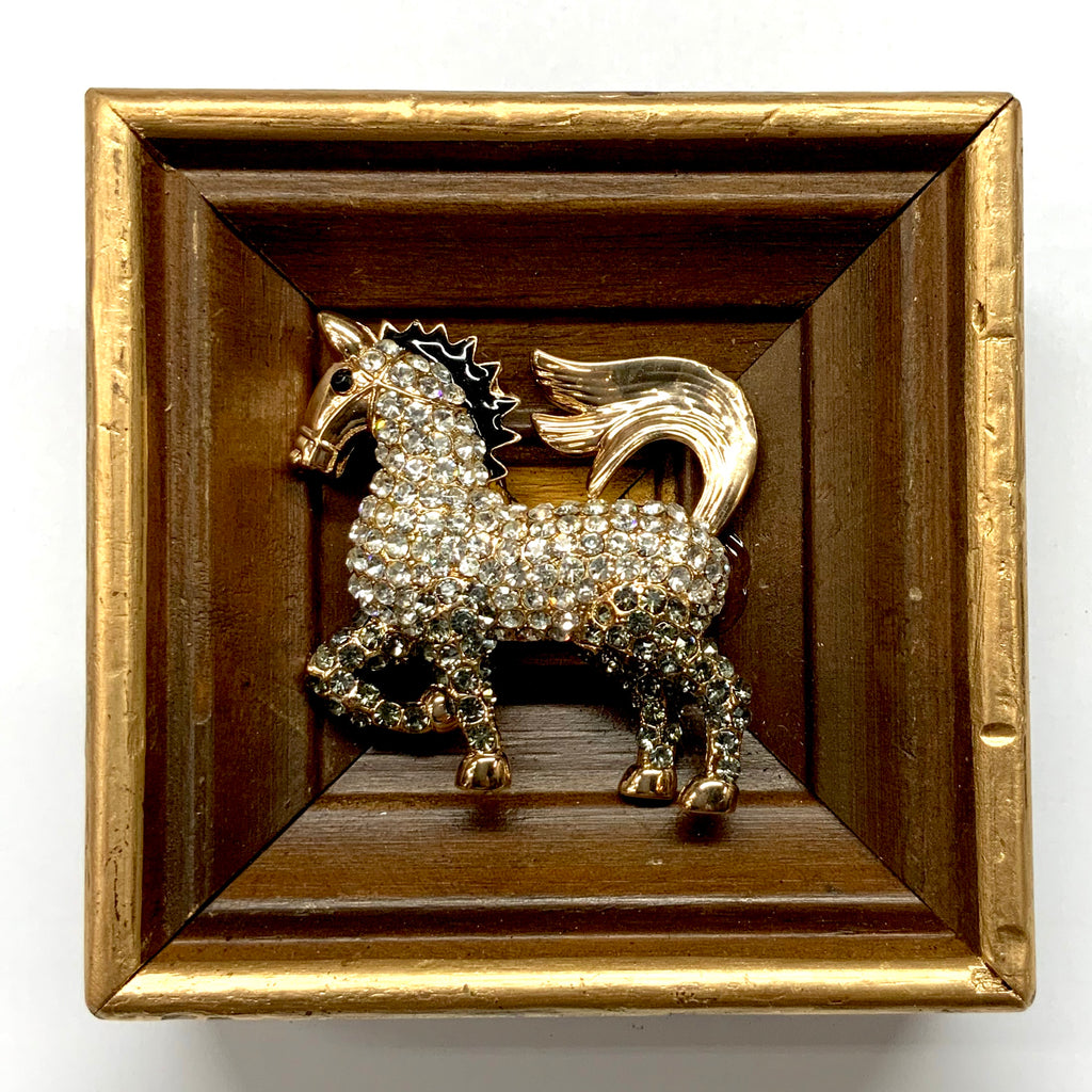 Wooden Frame with Sparkle Horse (4